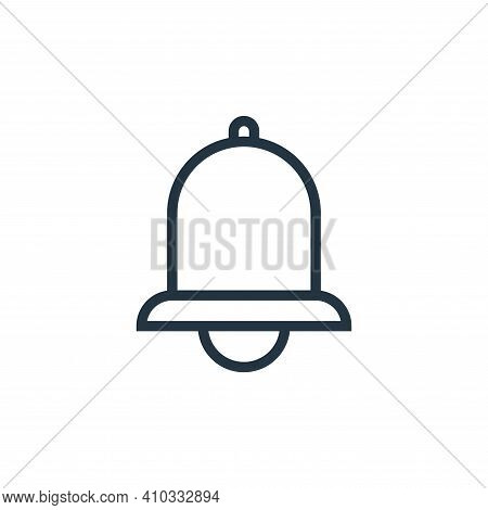 bell icon isolated on white background from education collection. bell icon thin line outline linear