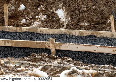 Formwork For Sidewalk Industry Builder Material Job