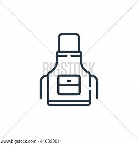 apron icon isolated on white background from sewing collection. apron icon thin line outline linear