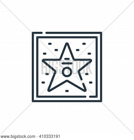 walk of fame icon isolated on white background from fame collection. walk of fame icon thin line out