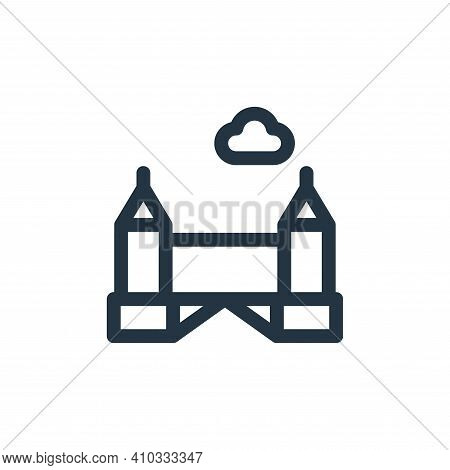 Tower bridge icon isolated on white background from europe collection. Tower bridge icon thin line o