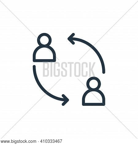 team icon isolated on white background from business collection. team icon thin line outline linear