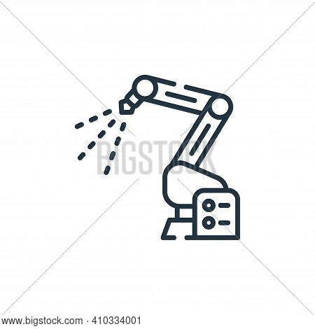 robotic arm icon isolated on white background from industrial process collection. robotic arm icon t