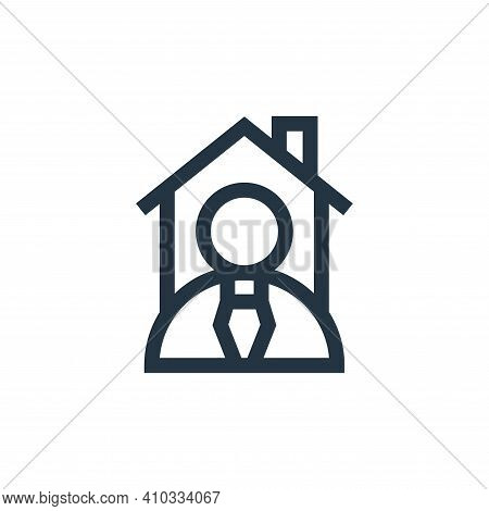 real estate agent icon isolated on white background from real estate collection. real estate agent i