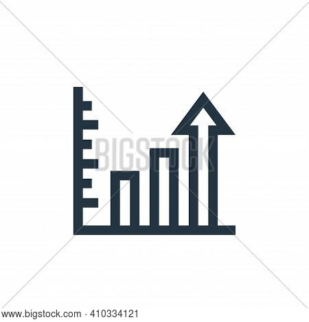 profits icon isolated on white background from marketing and growth collection. profits icon thin li