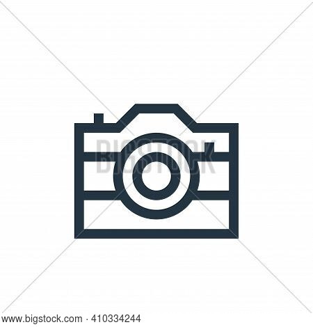 photo camera icon isolated on white background from electronics collection. photo camera icon thin l
