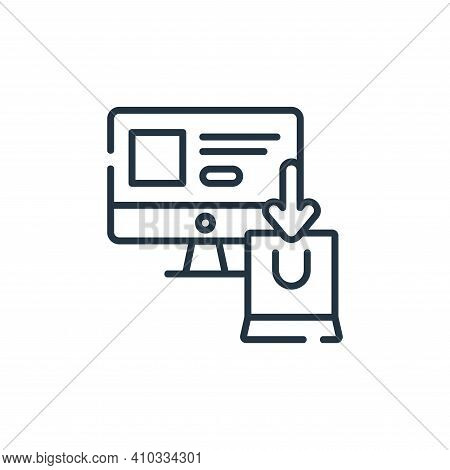 online shopping icon isolated on white background from delivery collection. online shopping icon thi