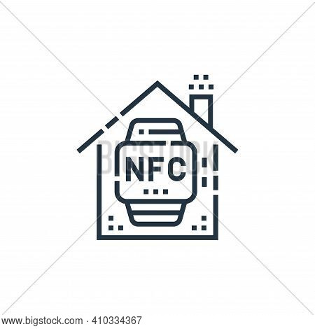 nfc icon isolated on white background from smarthome collection. nfc icon thin line outline linear n
