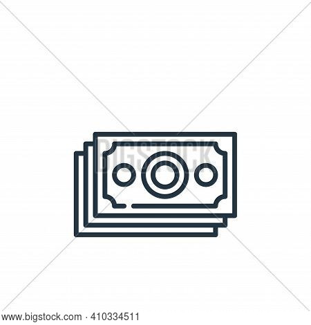 money icon isolated on white background from management collection. money icon thin line outline lin