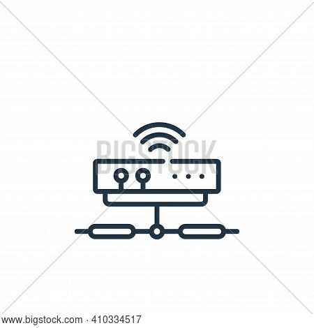 modem icon isolated on white background from telecommuting collection. modem icon thin line outline