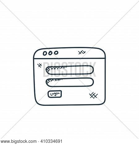 log in icon isolated on white background from technology collection. log in icon thin line outline l