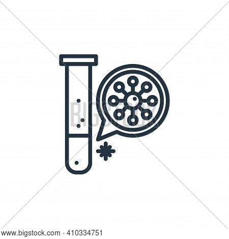 lab icon isolated on white background from virus collection. lab icon thin line outline linear lab s