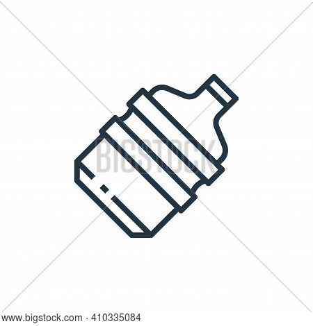 gallon icon isolated on white background from recycling collection. gallon icon thin line outline li