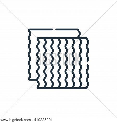 fabric icon isolated on white background from sewing collection. fabric icon thin line outline linea