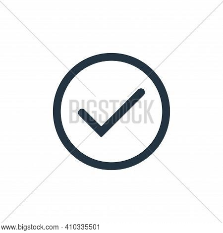 complete icon isolated on white background from interface collection. complete icon thin line outlin