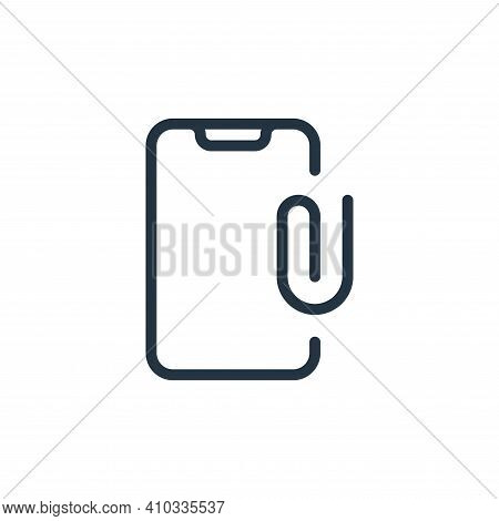 clip icon isolated on white background from work office supply collection. clip icon thin line outli