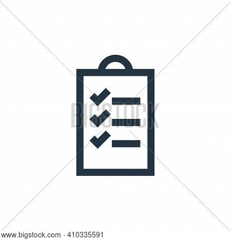 checklist icon isolated on white background from feedback and testimonials collection. checklist ico