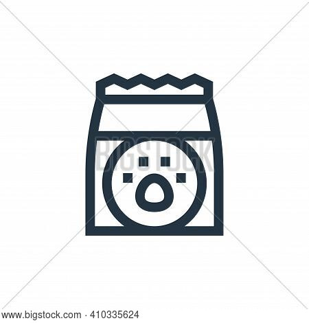 cat food icon isolated on white background from pet shop collection. cat food icon thin line outline
