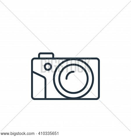 camera icon isolated on white background from cinema collection. camera icon thin line outline linea