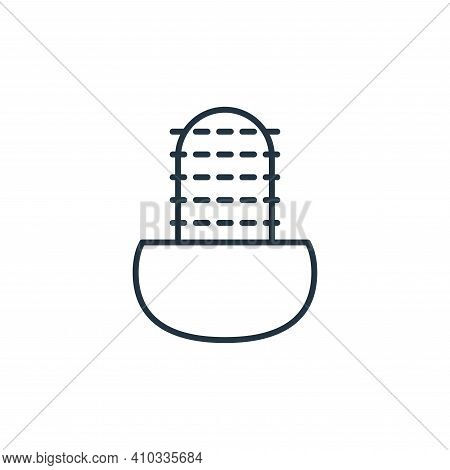 cactus icon isolated on white background from interiors collection. cactus icon thin line outline li