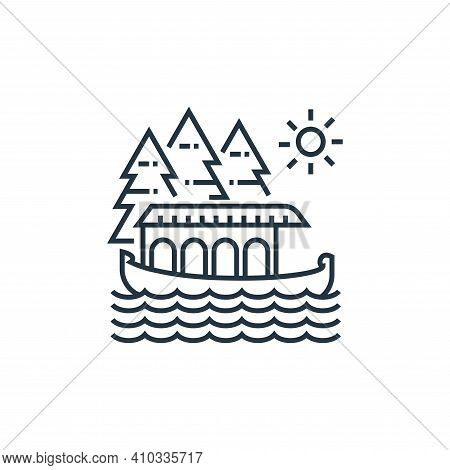 boat icon isolated on white background from tourism collection. boat icon thin line outline linear b