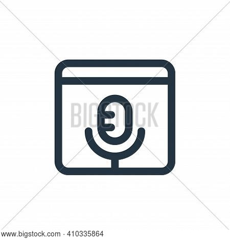 audio icon isolated on white background from web apps seo collection. audio icon thin line outline l