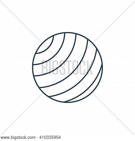 yoga ball icon isolated on white background from fitness collection. yoga ball icon thin line outlin