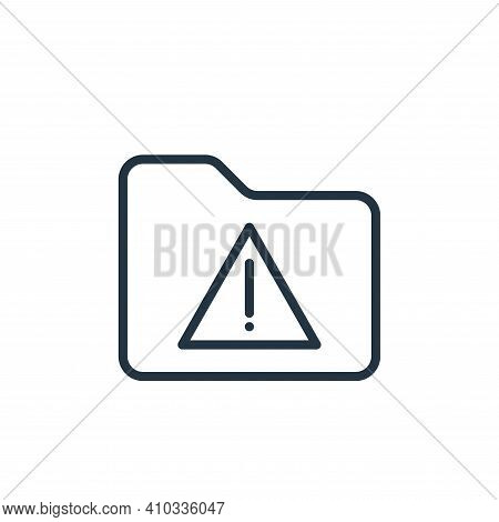 warning icon isolated on white background from folder collection. warning icon thin line outline lin