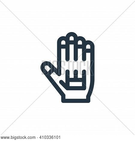 vr icon isolated on white background from virtual reality collection. vr icon thin line outline line