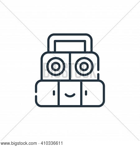 sound system icon isolated on white background from reggae collection. sound system icon thin line o