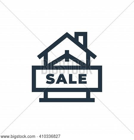 sale icon isolated on white background from real estate collection. sale icon thin line outline line