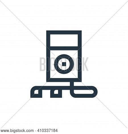 mp player icon isolated on white background from rock and roll collection. mp player icon thin line