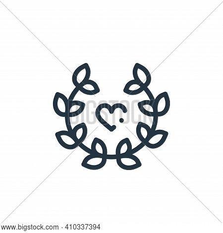 laurel icon isolated on white background from world love collection. laurel icon thin line outline l