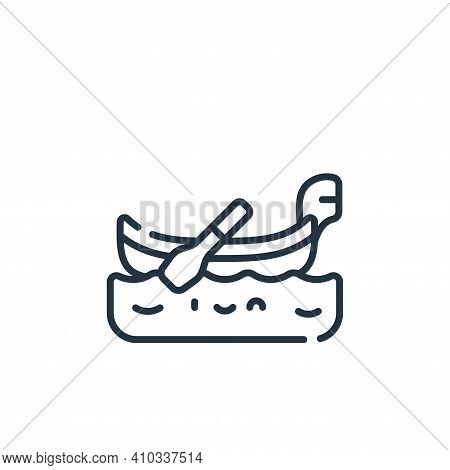 gondola icon isolated on white background from italy collection. gondola icon thin line outline line