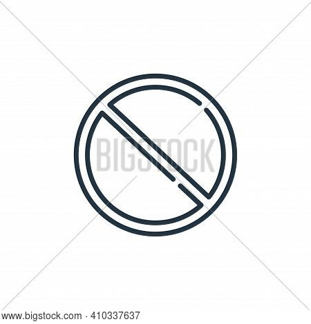 forbidden icon isolated on white background from signals and prohibitions collection. forbidden icon