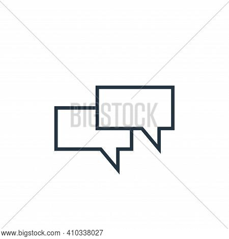 chat icon isolated on white background from school collection. chat icon thin line outline linear ch