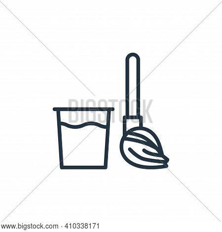 broom icon isolated on white background from stop virus collection. broom icon thin line outline lin
