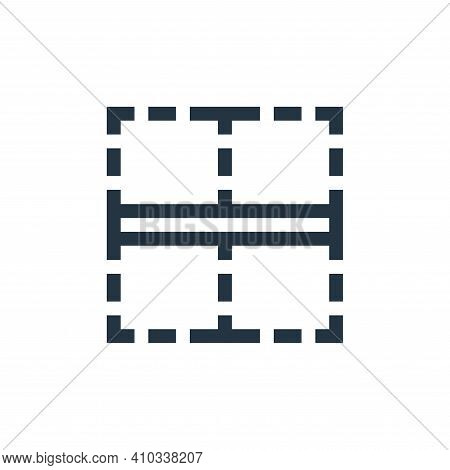 border icon isolated on white background from text editor collection. border icon thin line outline