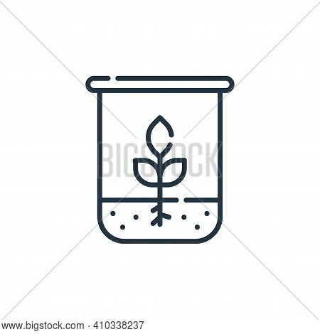 biology icon isolated on white background from academy collection. biology icon thin line outline li