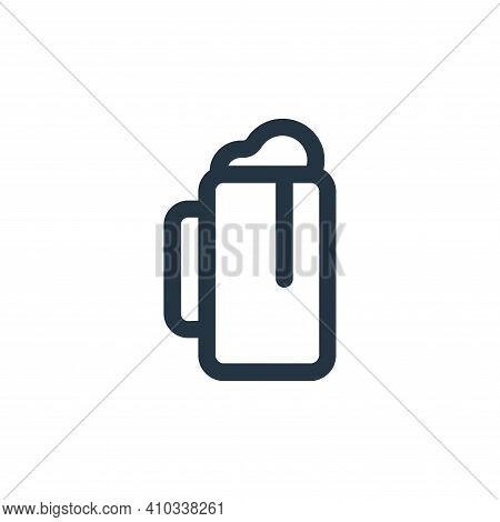 beer icon isolated on white background from food collection. beer icon thin line outline linear beer