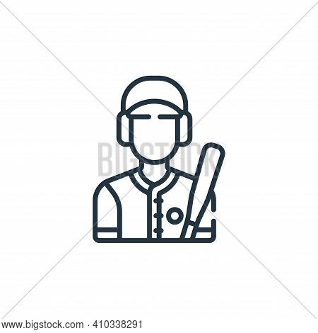 batter icon isolated on white background from baseball collection. batter icon thin line outline lin