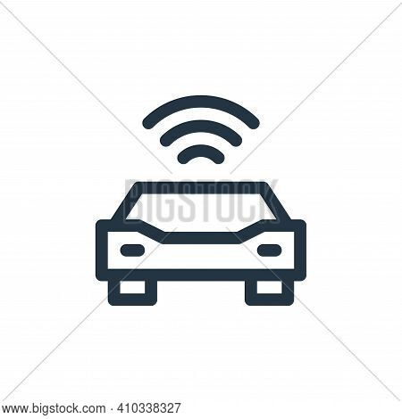 autonomous car icon isolated on white background from technology of the future collection. autonomou