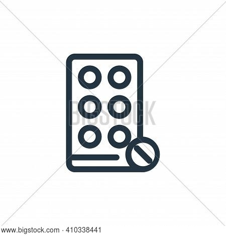 antibiotic icon isolated on white background from medical tools collection. antibiotic icon thin lin