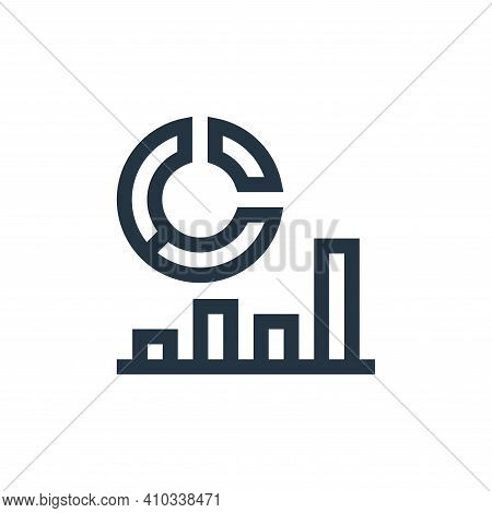analysis icon isolated on white background from job resume collection. analysis icon thin line outli