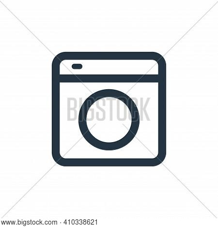 washing icon isolated on white background from electronic and device collection. washing icon thin l