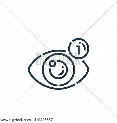 views icon isolated on white background from videoblogger collection. views icon thin line outline l