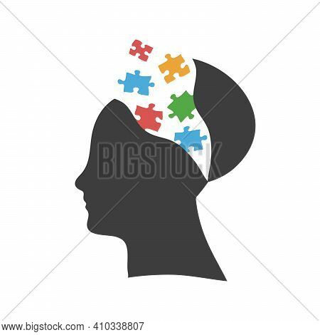 Mind Exploding Ideas, Open Mind, New Ideas Concept, Startup. Stock Vector Illustration Isolated