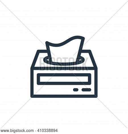 tissue paper icon isolated on white background from personal hygiene collection. tissue paper icon t