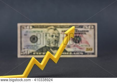 Dollar Inflation, Dollar Depreciation, Decline In The Purchasing Power Of The American Currency. Cop