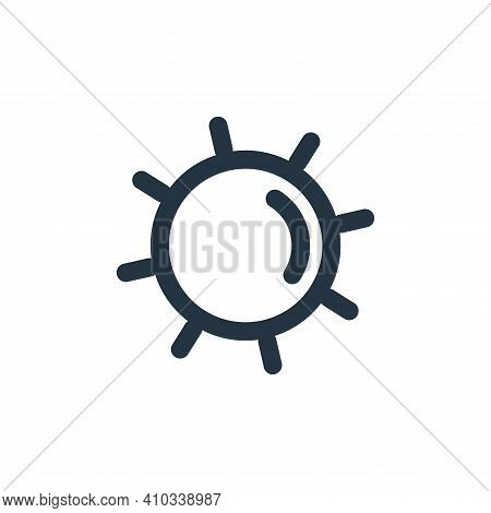 sun icon isolated on white background from holiday collection. sun icon thin line outline linear sun